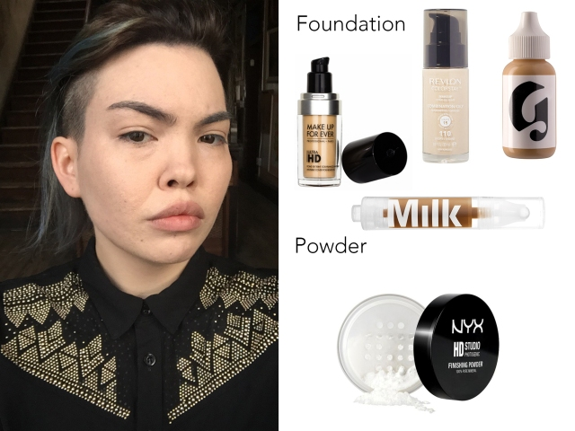 Here's the fun part: foundation! I recommend using a Beauty Blender to apply foundation. If your skin is sensitive and you can spend money on an expensive foundation, I recommend MakeUp Forever's HD Foundation. I use Revlon ColorStay Foundation, which is a cheaper drugstore brand.