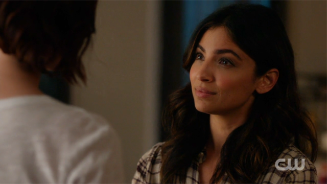 Maggie looks skeptically at Alex