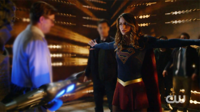 Kara stands strong against enemy fire