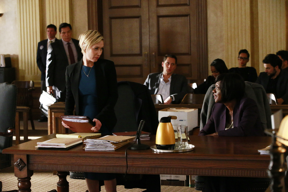 Bonnie and Annalise in a court room.