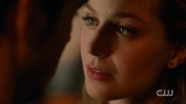 A close-up of Kara's perfect face