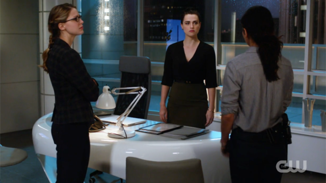 Maggie, Lena and Kara stand off