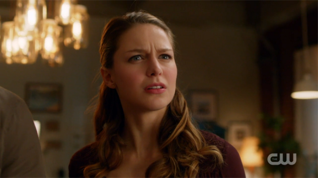 Kara scrunches her face in adorable confusion