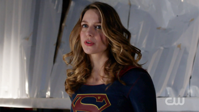 Supergirl and her magic unicorn hair, ready to save Lena