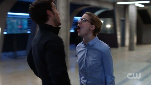 Kara yelling at Mon-El