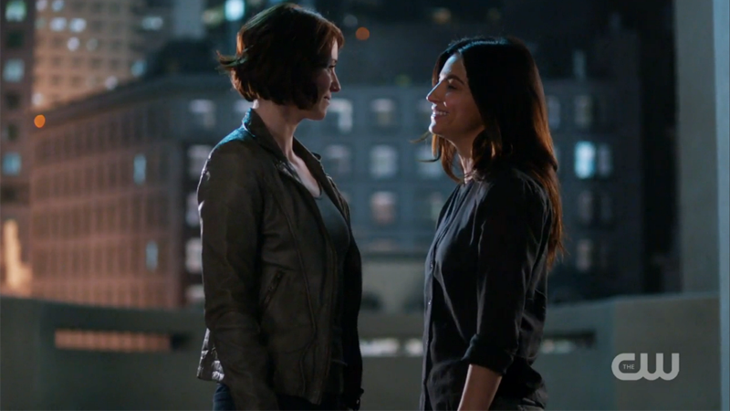 Alex and Maggie look lovingly at one another
