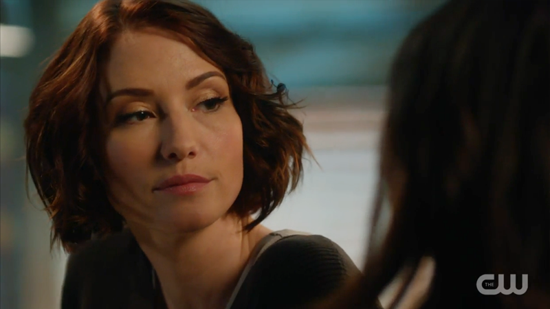 Alex looks suspicious at the thought of Maggie with a grenade