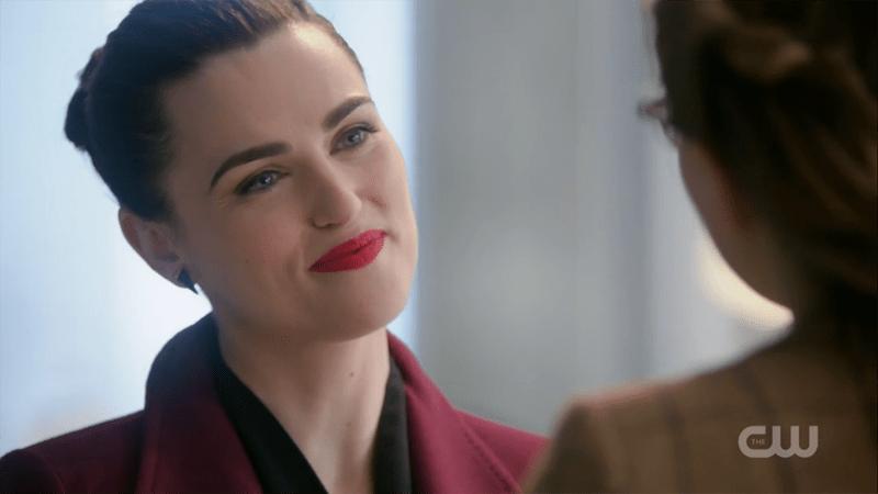 Lena smiles flirtatiously at Kara