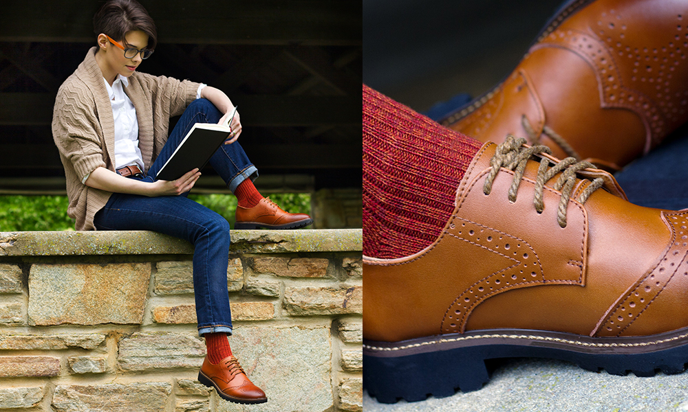 The Roguish Brogue in Light Brown