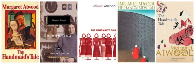 collage of the handmaid's tale covers