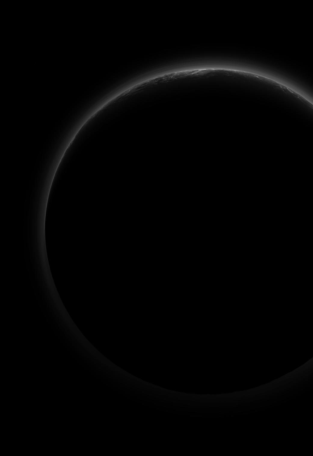 black outline of a planet