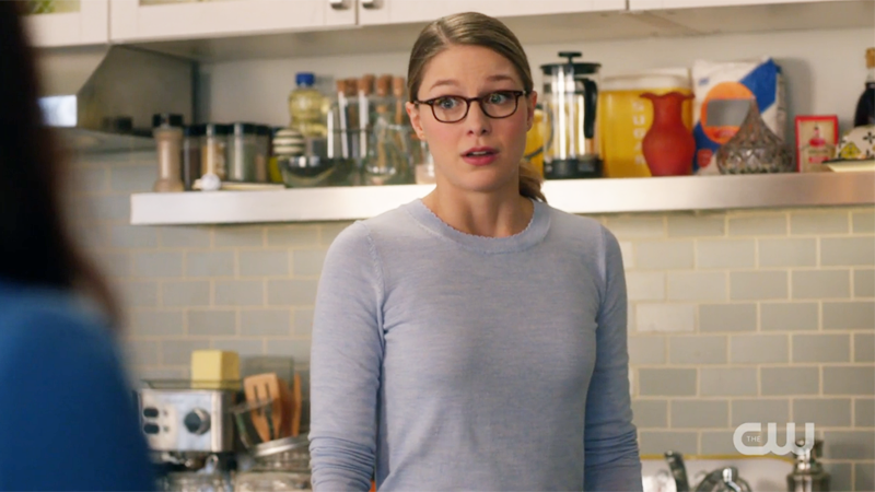 kara looks surprised at the mention of lena's ex