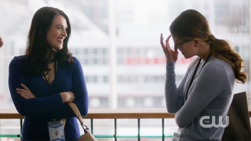 Kara giggles at Lena's compliment