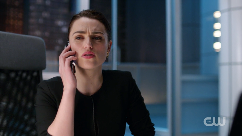 lena on the phone, worried