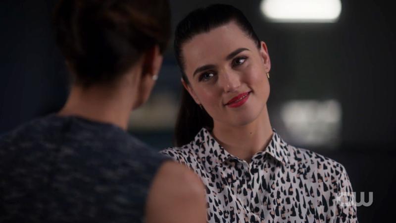 Lena smiles at Rhea