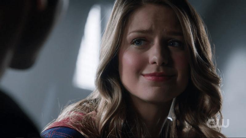 Kara looks gratefully at Clark