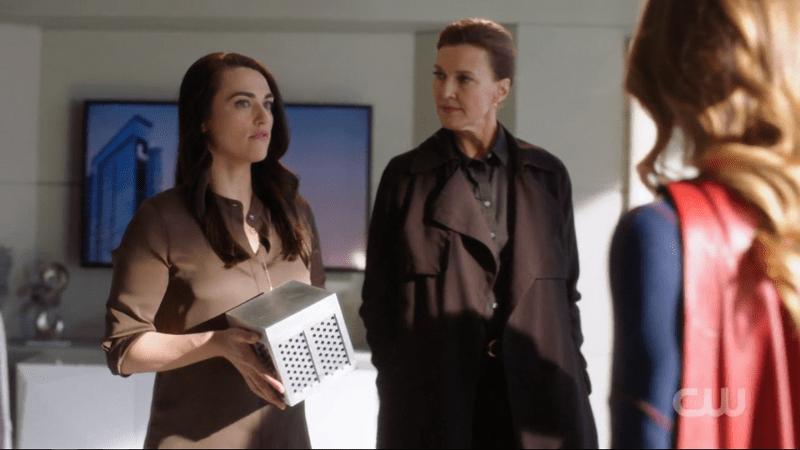Lena Luthor holds her murderbox