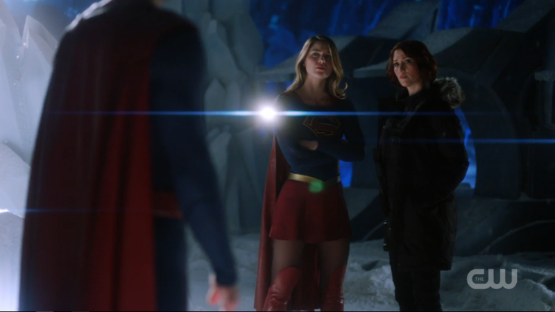 Alex and Kara stand strong next to each other in the fortress