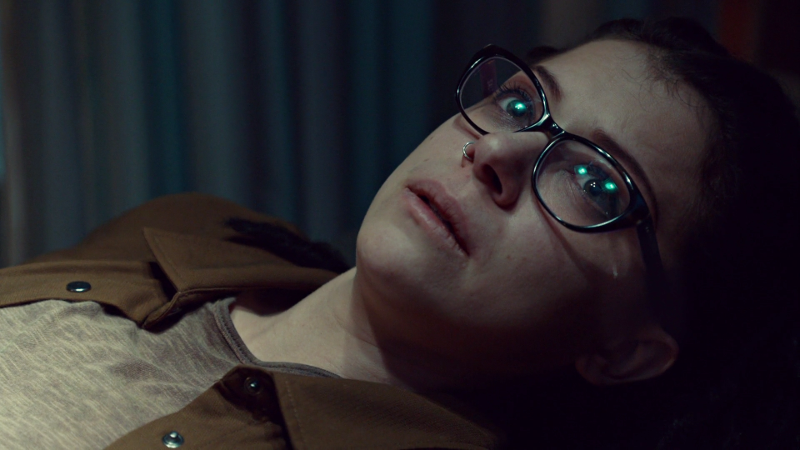 Cosima cries a tear of relief; she's finally sure she's going to be okay