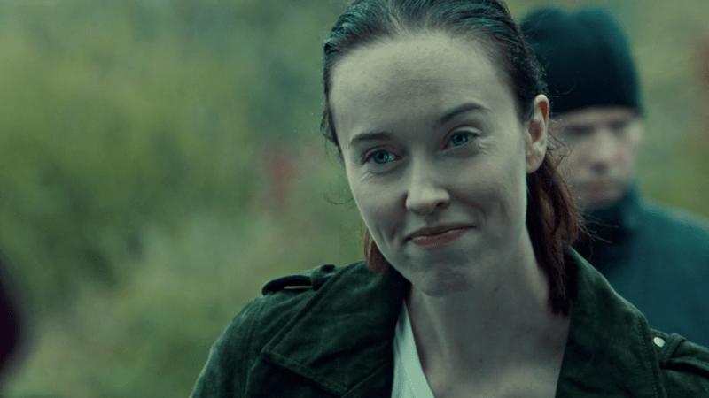 Maddie smiles suspiciously at Allison