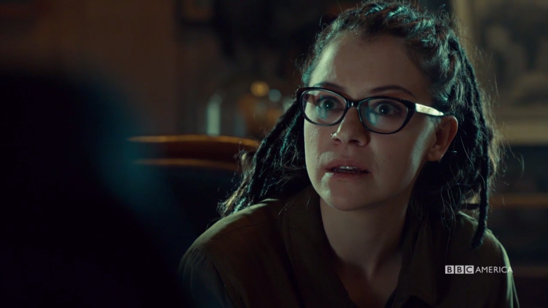 Cosima looks fascinated by PT