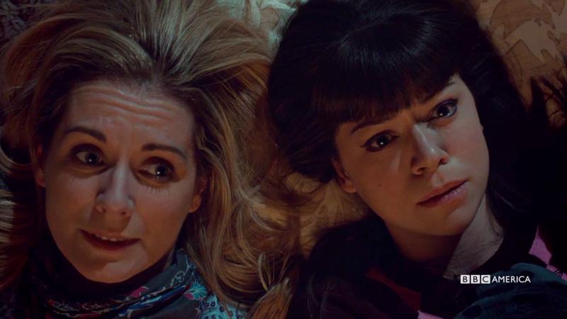 Aynsley and Alison stargaze together