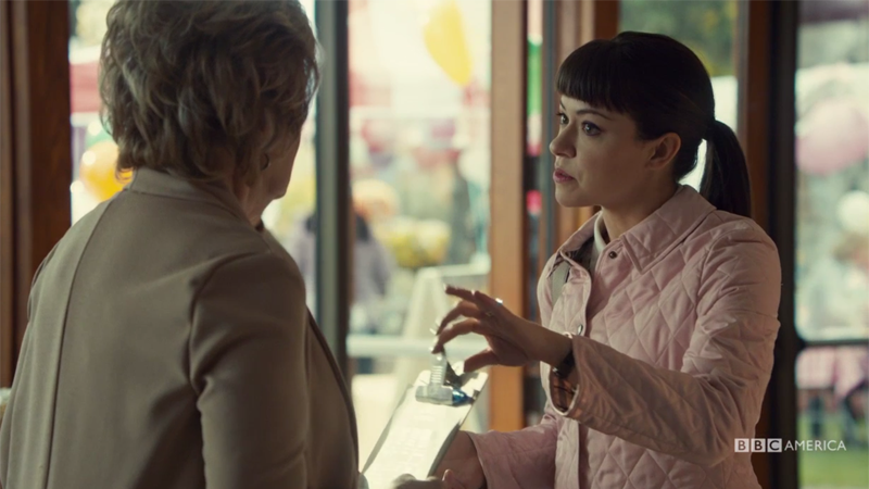 Alison looks pissssed as she tries to take Nona's clipboard