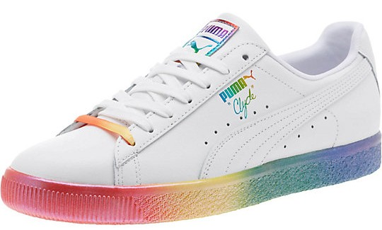 "87eb3aa321ff Puma s  95 Clyde Pride Sneakers are ""designed to represent all that you  stand for"