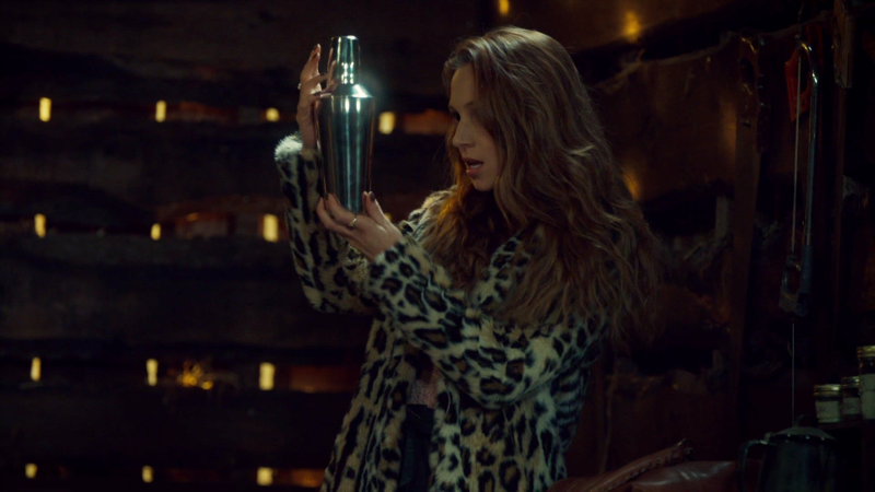 Waverly is danicng with her cocktail shaker as she adds it to her collection