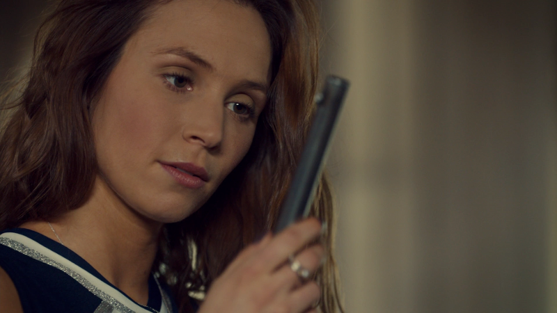 Waverly looks lustily at the barrel of Peacemaker