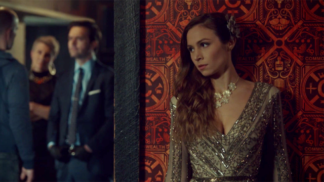 Waverly eavesdrops but it's just a really well-framed shot