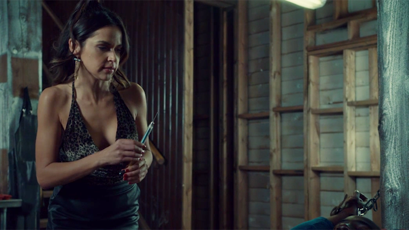 Rosita is holding a needle even though she shouldn't be