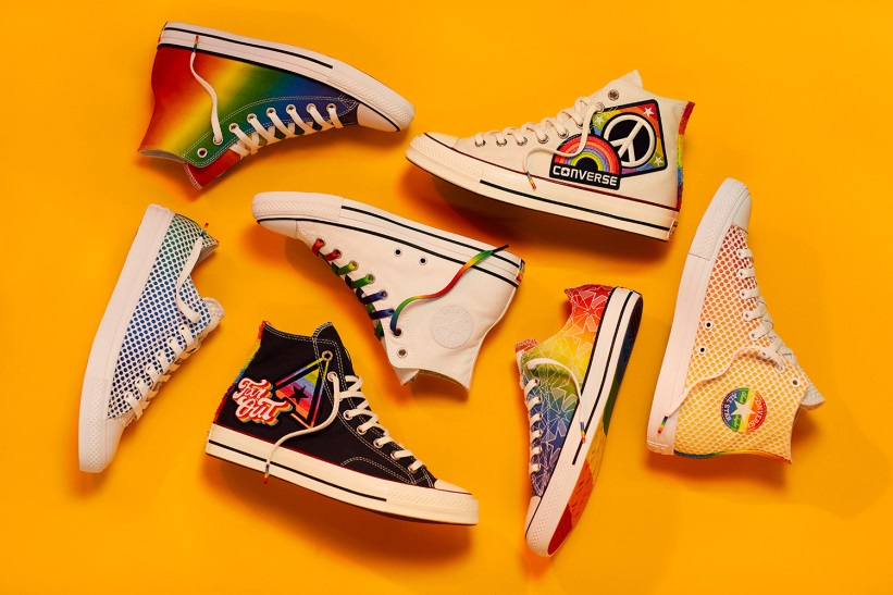 0f47936af131 Converse s Pride collection includes 37 different shoe designs on its Chuck  Taylors and at least half are pretty damn hot. In honor of the first-ever  Pride ...
