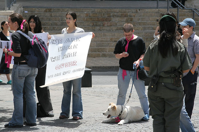 Gay demonstration in Zion Square by Brian Negin