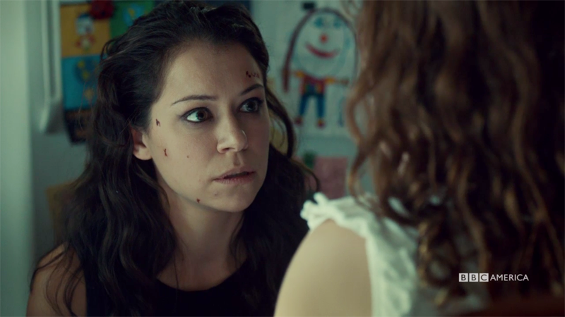 Sarah looks very concerned about Kira
