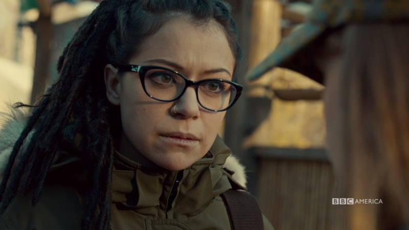Cosima looks pretty concerned about what Mud is saying