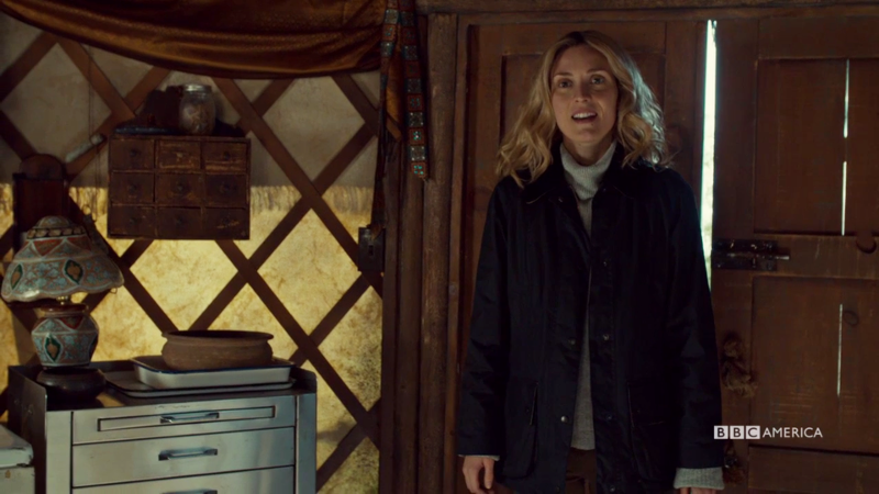 Delphine is smiling so big