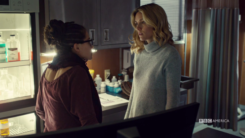 Cosima and Delphine are literally just standing there and I can't handle how beautiful they are