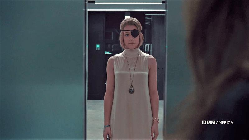 The elevator doors close on Rachel