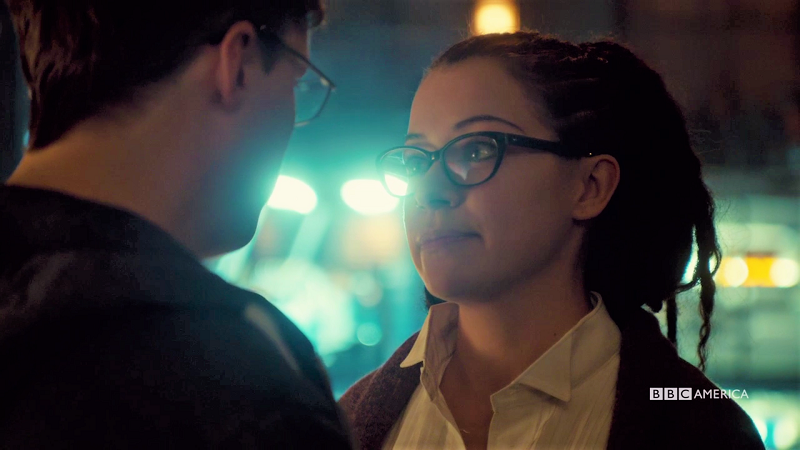 Cosima smiles at Scott