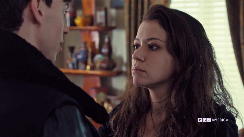 Sarah looks Seriously at Felix