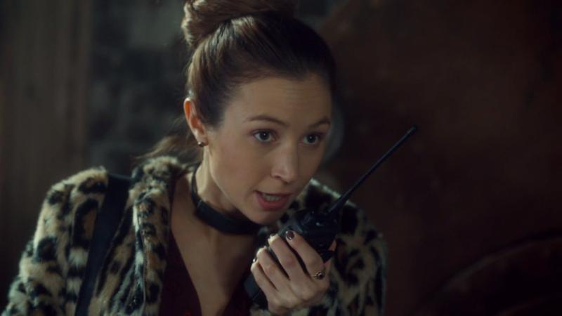 Waverly talks into her walkie.