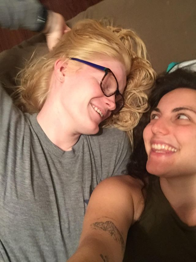 Nicole and Lindy gaze lovingly at each other and melt all of our hearts.