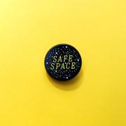 Safe Space Enamel Pin
