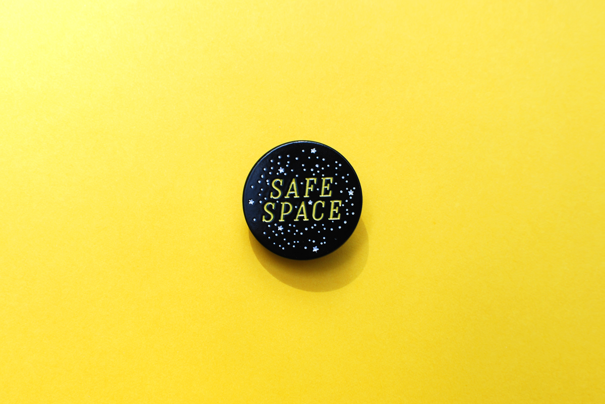 Safe Space Enamel Pin