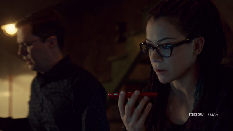 Cosima is on the phone with Sarah