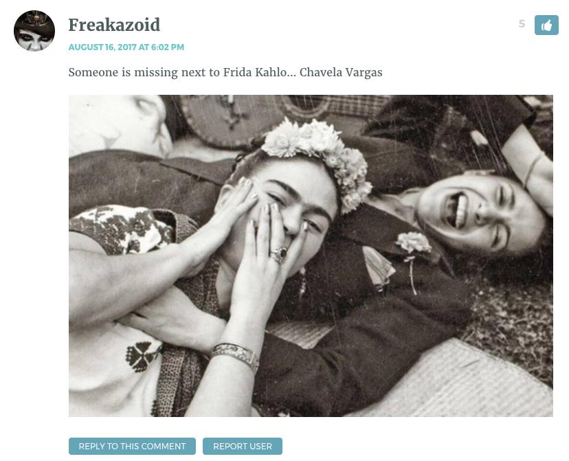 Someone is missing next to Frida Kahlo… Chavela Vargas