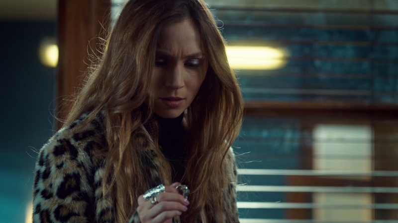 Waverly looks at Doc's ring