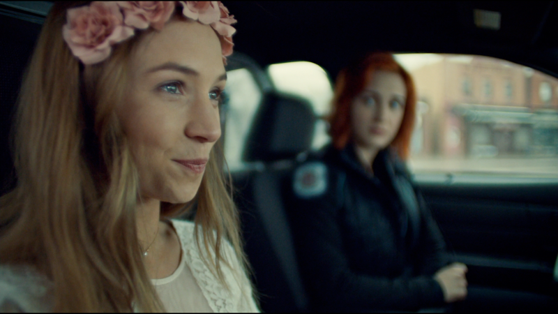 Waverly smirks shyly as she compliments Nicole