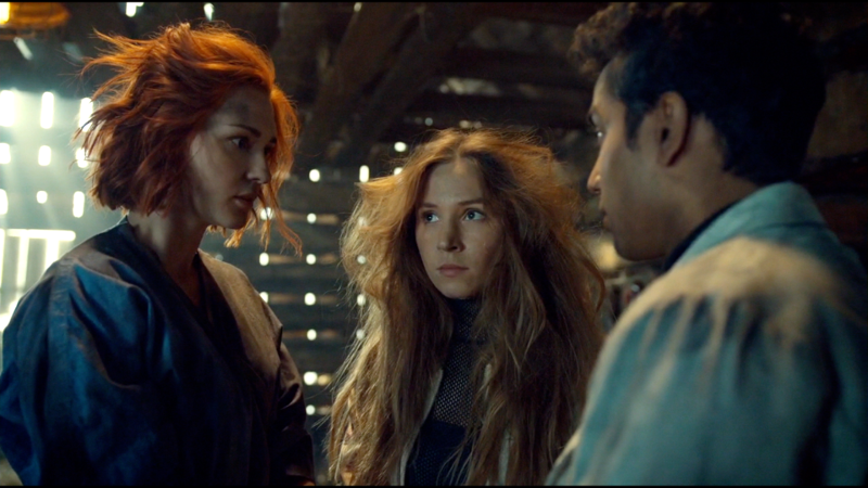 Nicole and Waverly look shell-shocked and their hair is bonkers